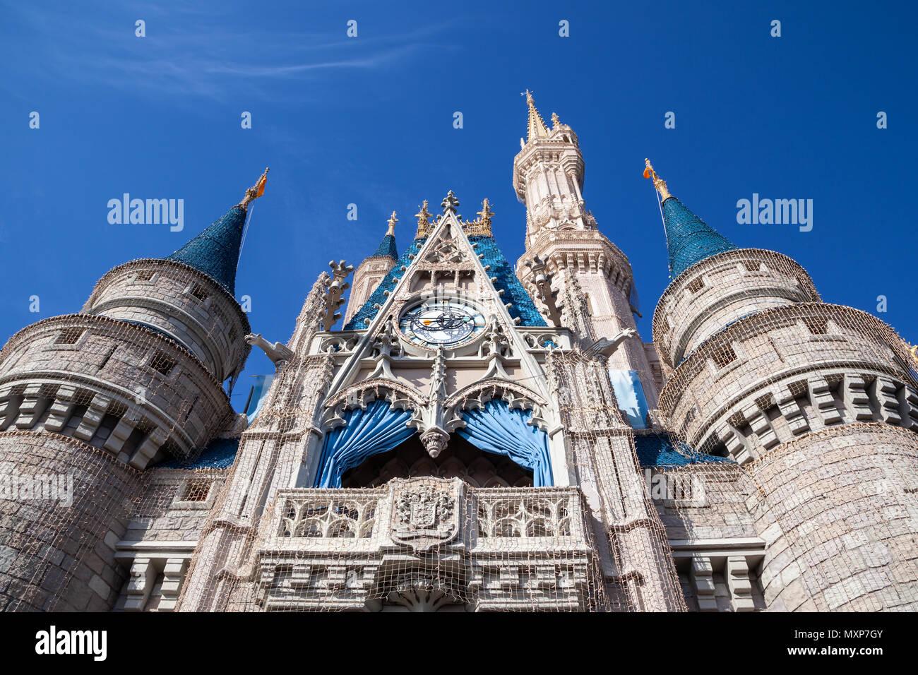 A view of Disneyland, Florida, United States. Stock Photo