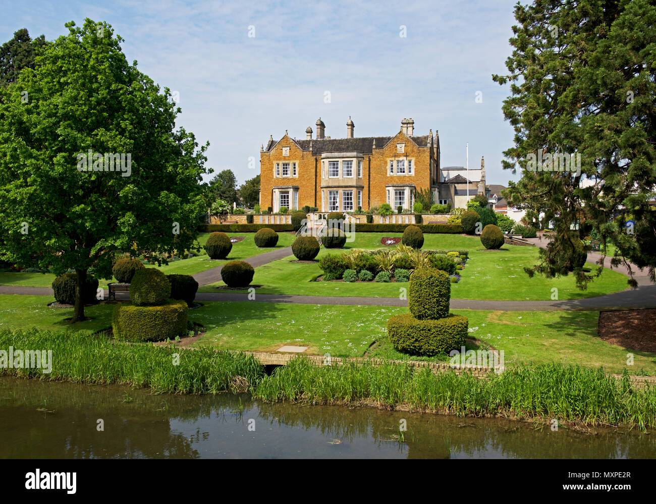 Egerton Lodge, a residential home, Melton Mowbray, Leicestershire, England UK - Stock Image