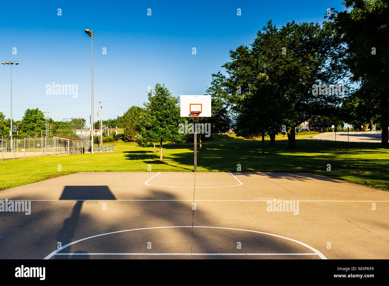 just waiting for a pickup game to get started - Stock Image