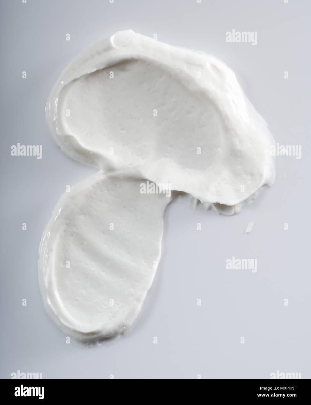 White coloured face cream. - Stock Image