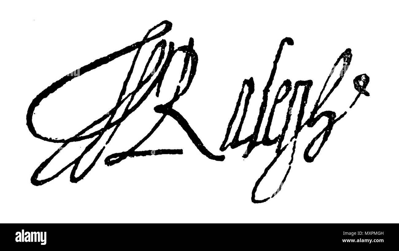 Sir Walter Raleigh (1554-1618) English aristocrat, writer, poet and explorer, signature, - Stock Image