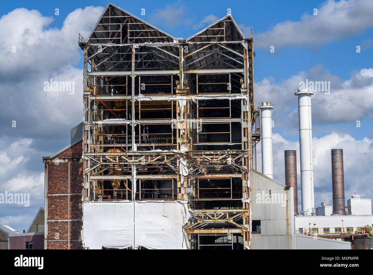 A large industrial structure at Brunner works, Winnington, Northwich