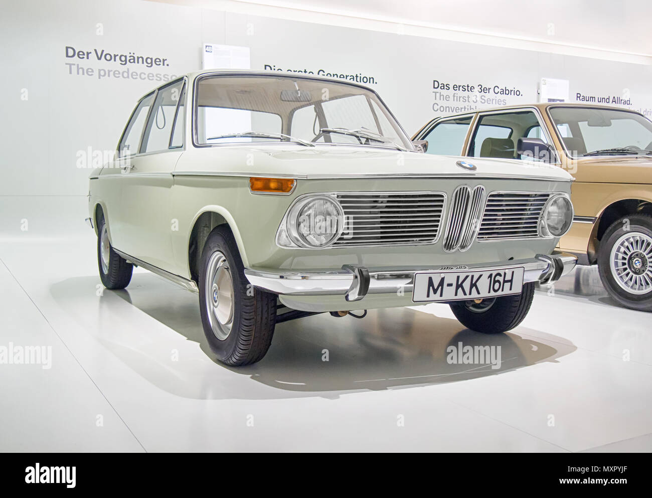 MUNICH, GERMANY-APRIL 8, 2017: 1966 BMW 1600-2 in the BMW Museum ...