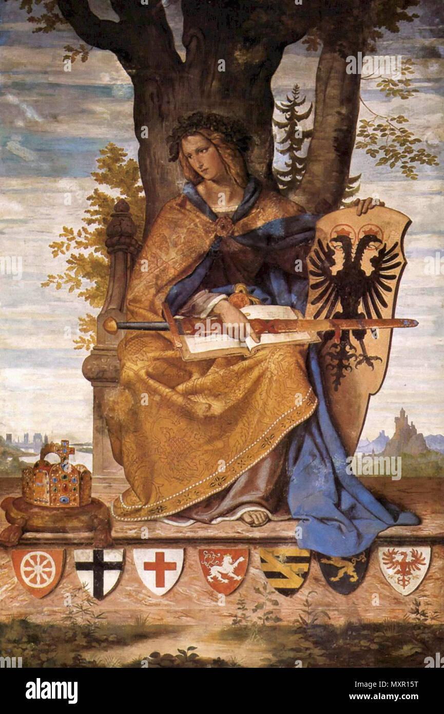 Veit Philipp - Allegorische Figur Der Germania - Stock Image