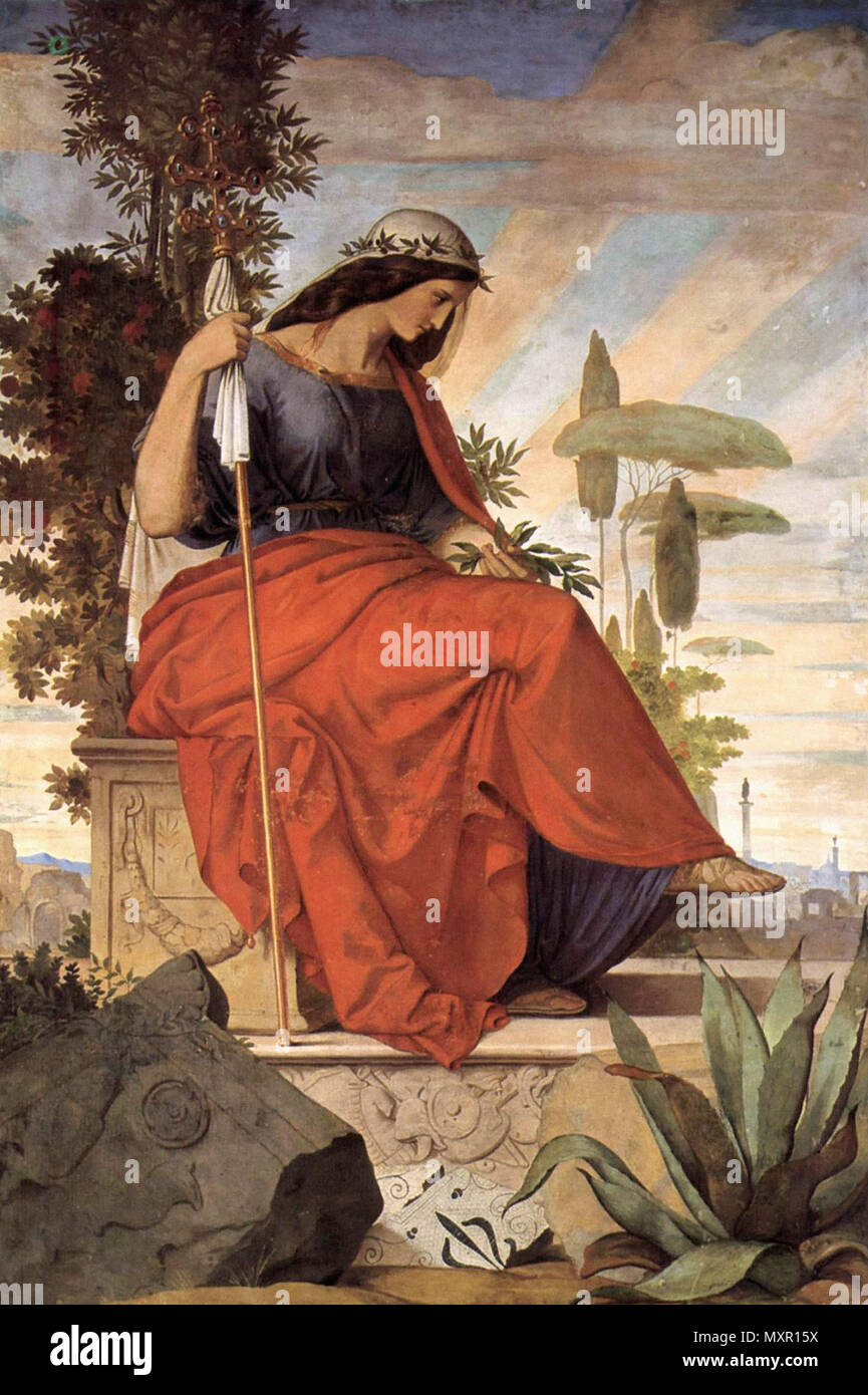 Veit Philipp - Allegorische Figur Der Italia - Stock Image