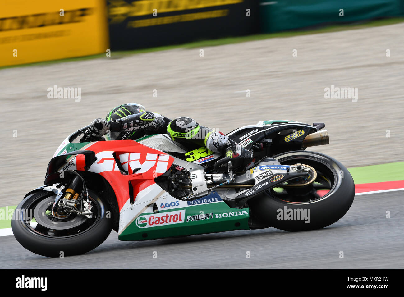 Mugello - ITALY, 2 JUNE: British LCR Honda Castrol Team Rider Cal Crutchlow during Qualifying session at 2018 GP of Italy of MotoGP on June, 2018. - Stock Image