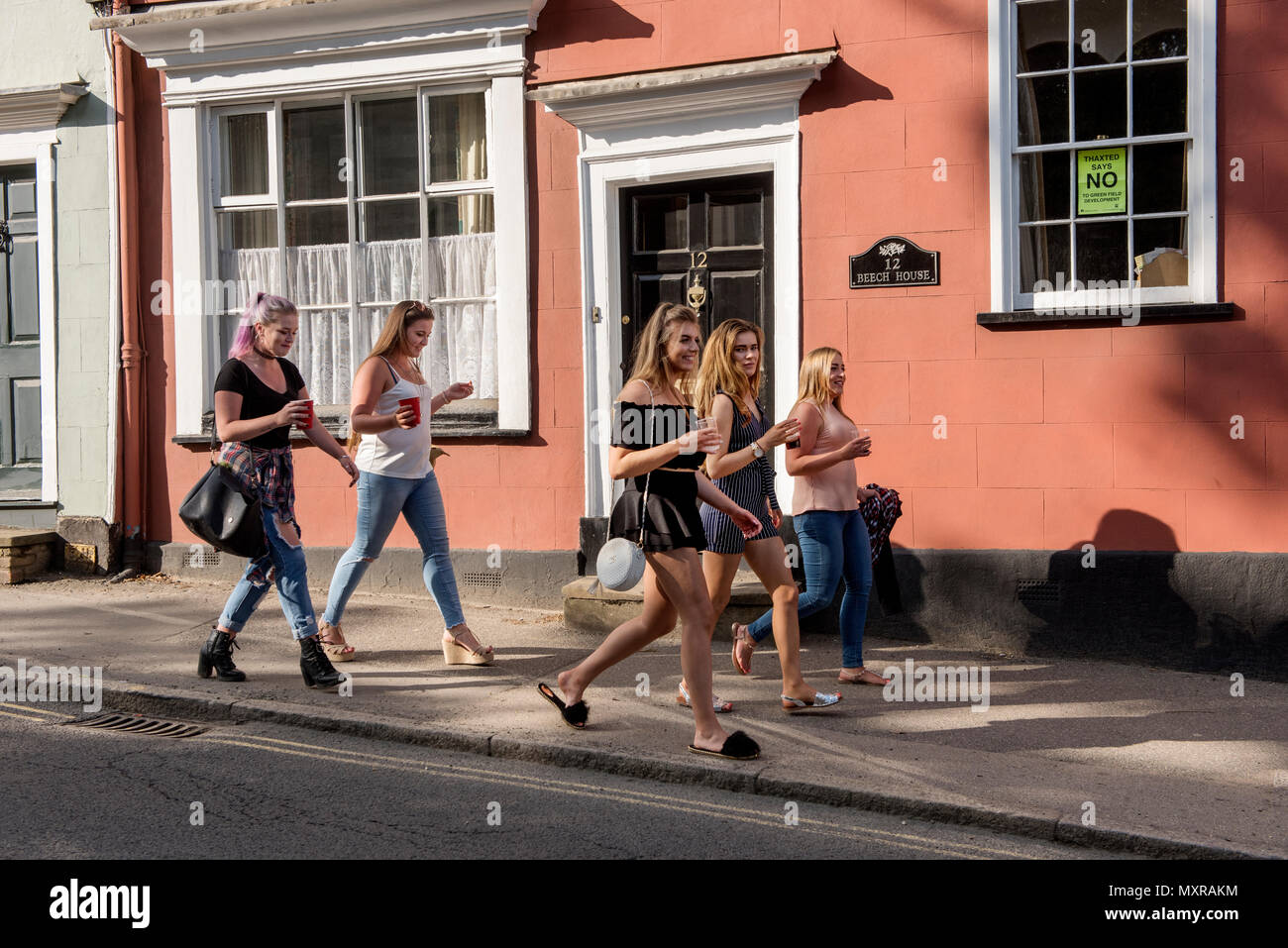 Thaxted Morris Weekend, Thaxted Essex England UK. 2-3 June 2018 The 85th Meeting of the Member Clubs of the Morris Ring hosted by Thaxted Morris Men ( - Stock Image