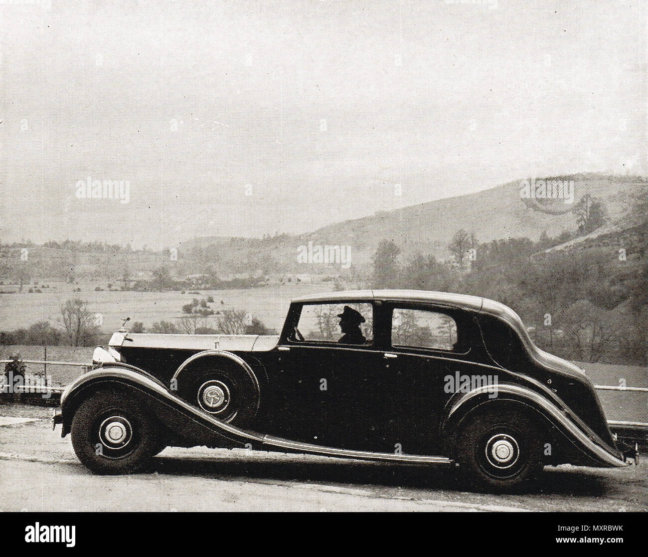 Rolls Royce car of 1938 - Stock Image