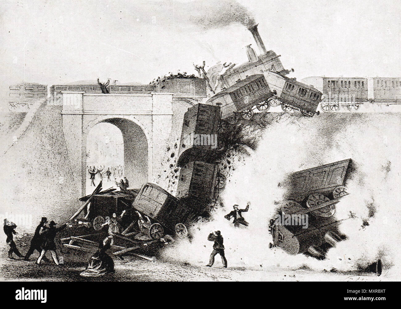 Kentish Town rail accident of 2 September 1861, - Stock Image