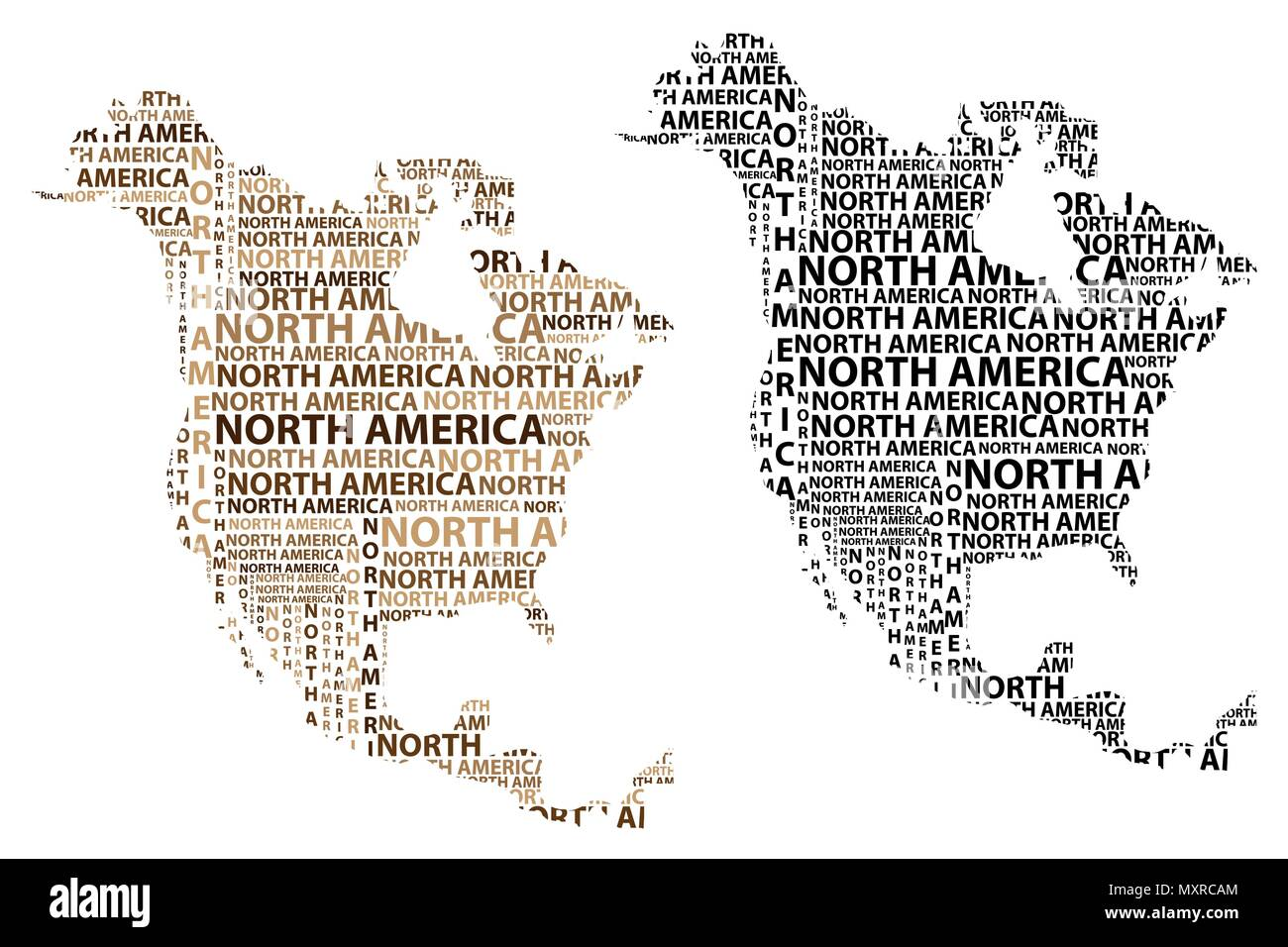 sketch north america letter text continent north america word in