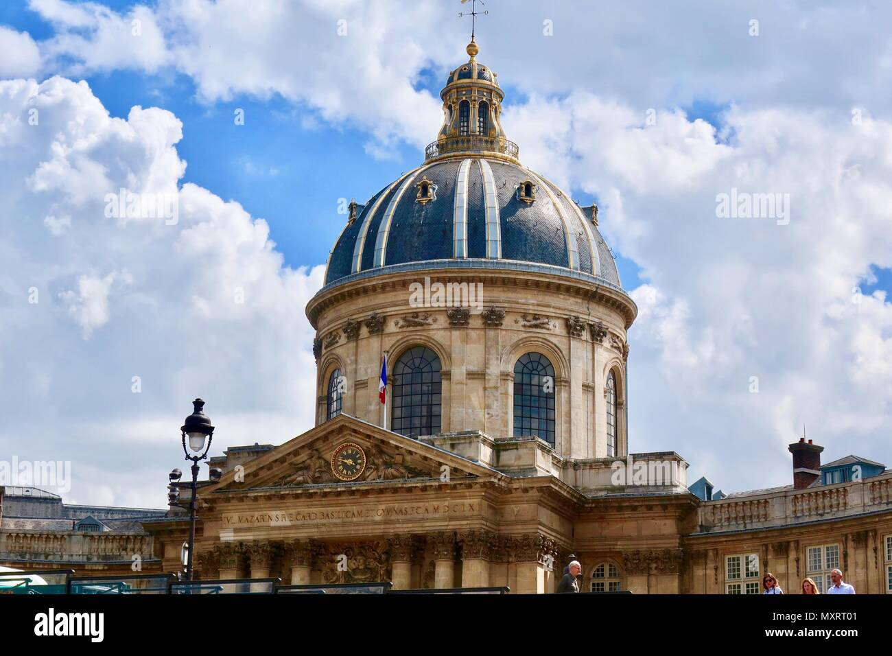 Paris, France. Hot bright sunny spring day at the Academie des Beaux Arts, Institute de France. May 2018. Stock Photo