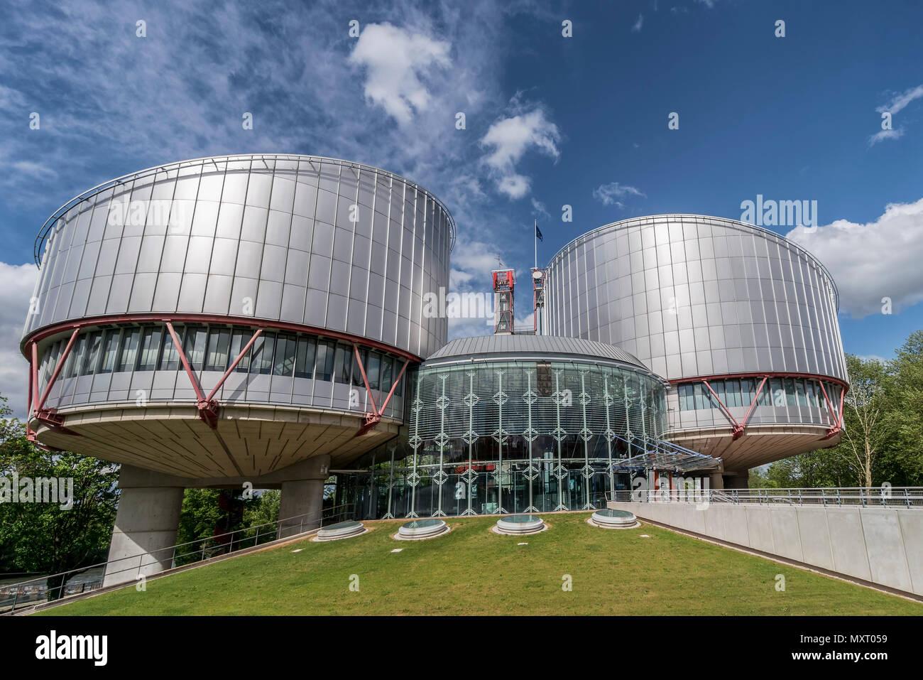 European court of justice, Strasbourg, Alsace, France, - Stock Image