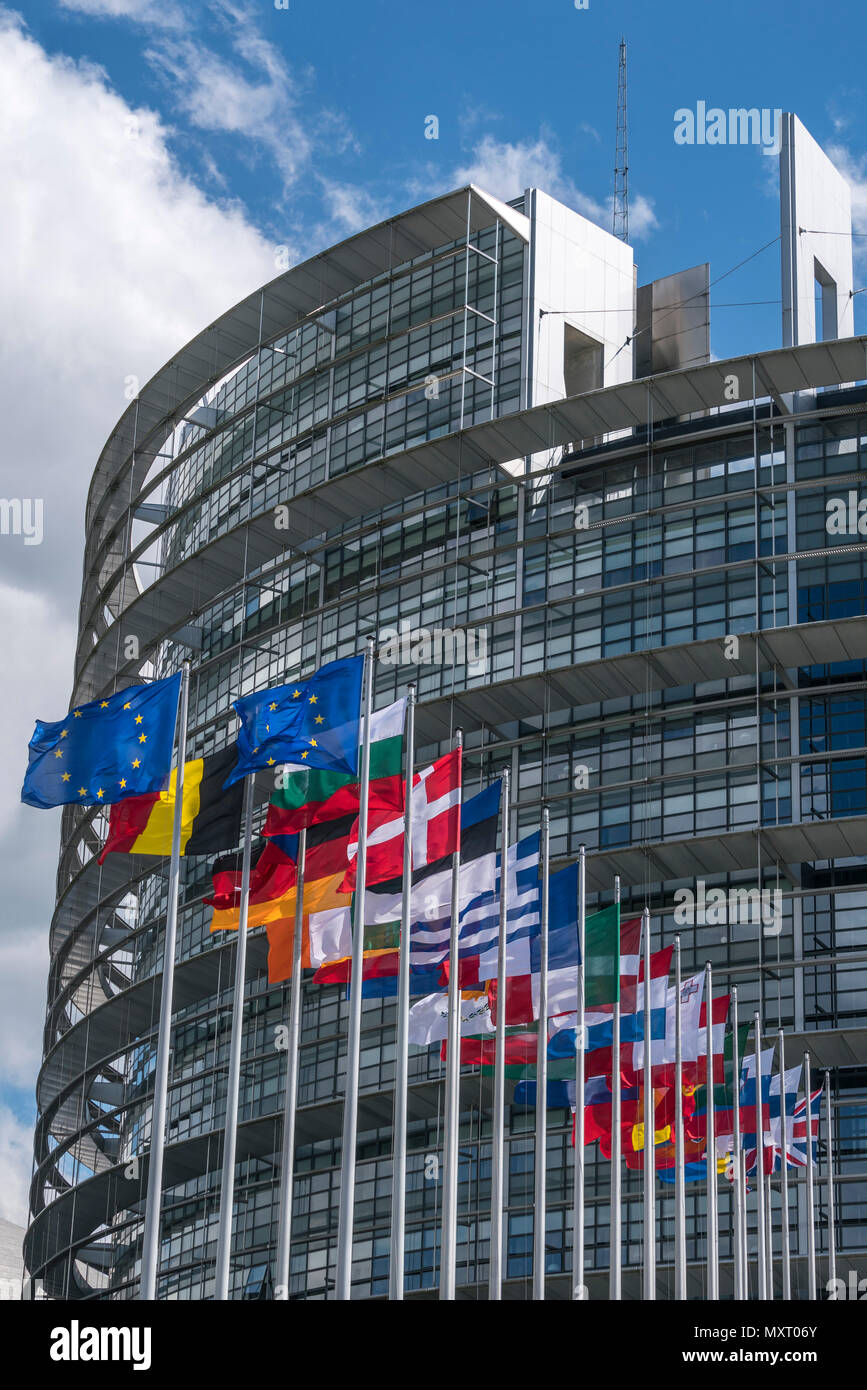 EU parliament, Strasbourg, Alscace, France - Stock Image