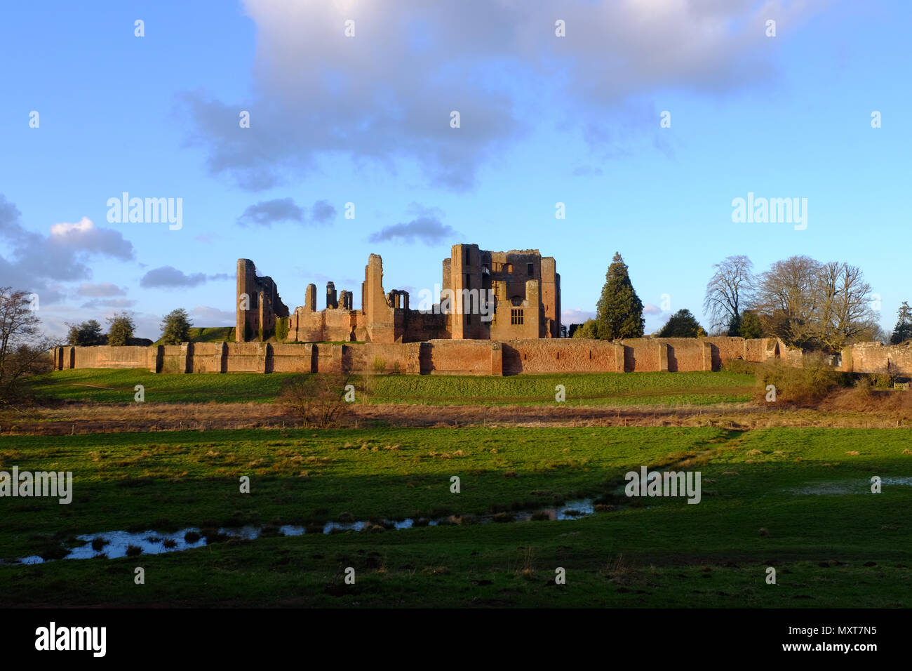 Kenilworth Castle, Warwickshire, England - Stock Image