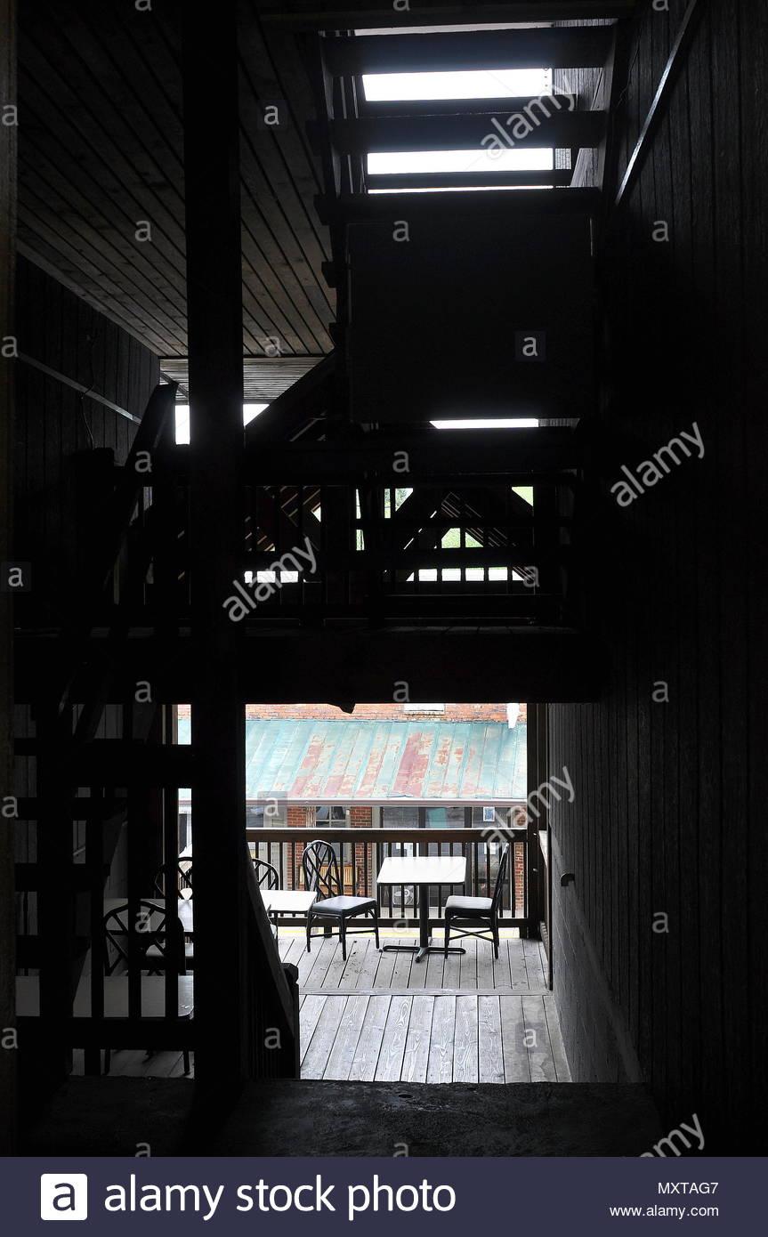 Bistros Outdoor Cafe - Stock Image