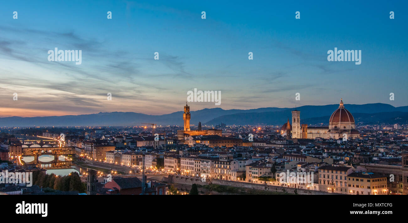 Panoramic view of Florence - Stock Image