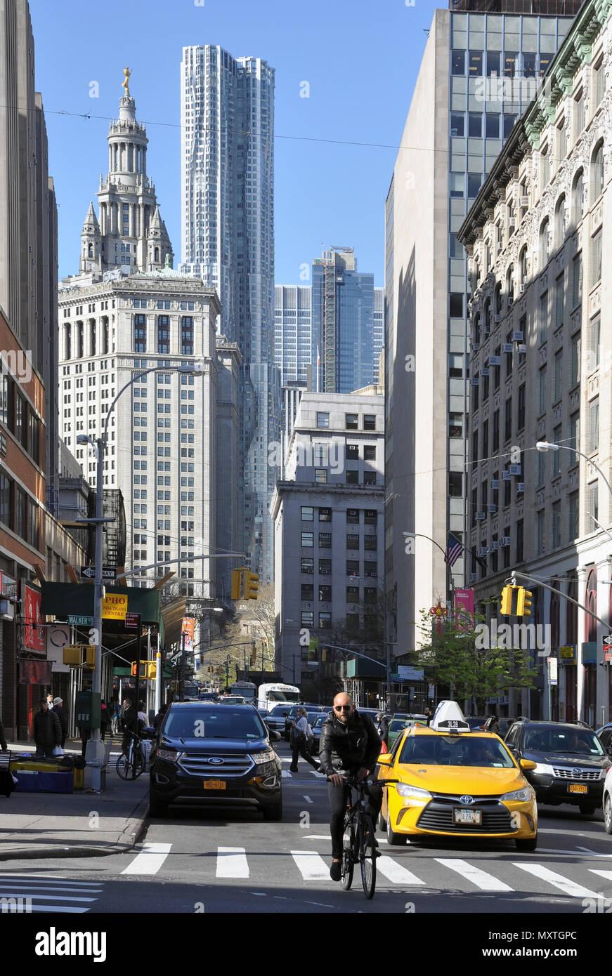 New York City streets, Manhattan, NYC - Stock Image