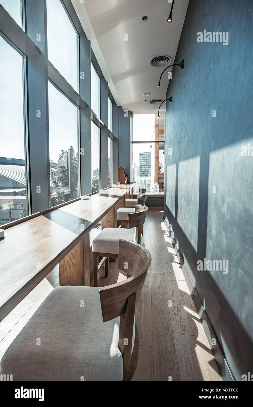 Cozy Interior Of The Modern Restaurant Inside Part Of The