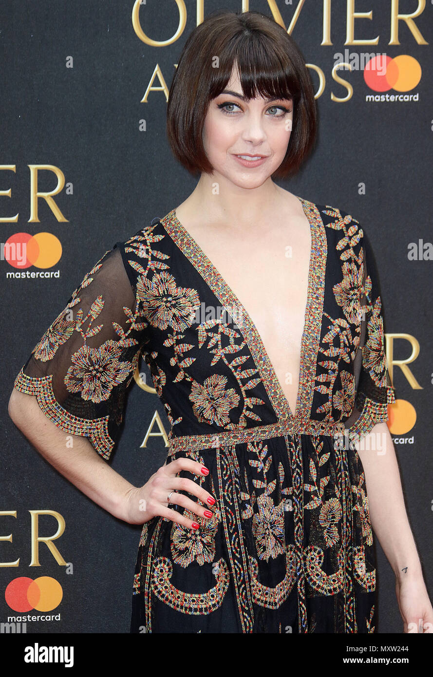 April 08, 2018 - Leanne Cope attending The Olivier Awards With Mastercard, Royal Albert Hall in London, England, UK - Stock Image