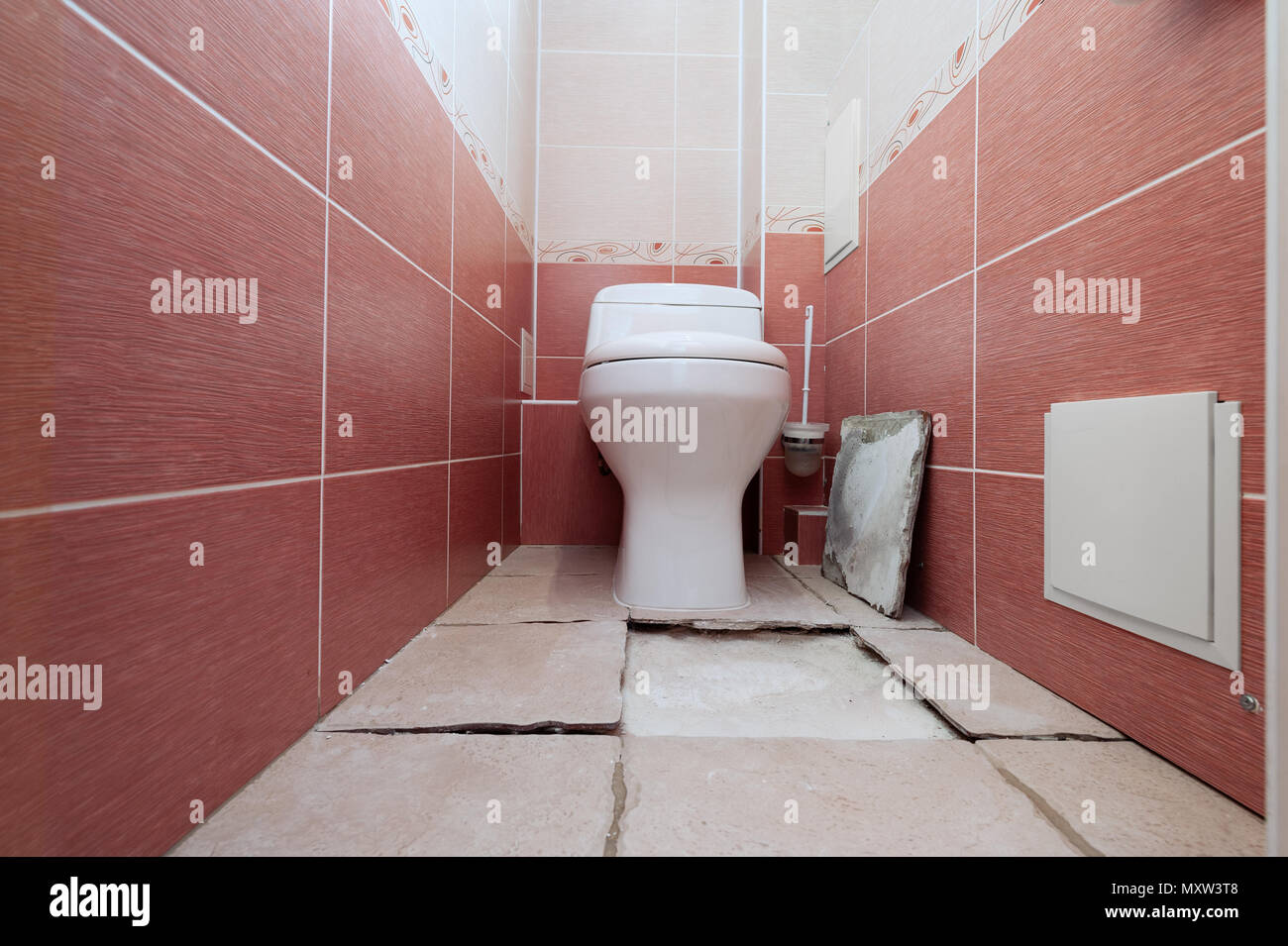 Rejection Of A Ceramic Tile Of A Floor At Violation Of Technology Of