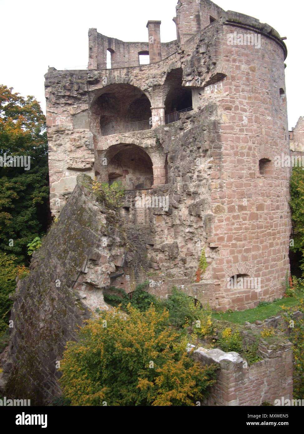 Ruins of the Heidelberg Castle in Heidelberg, Germany. - Stock Image