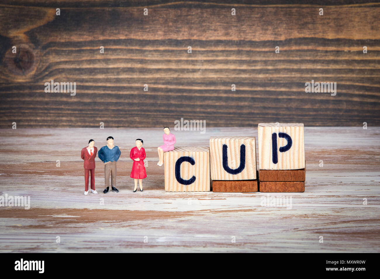 cup. Sports competitions, success at work or achievements in training - Stock Image