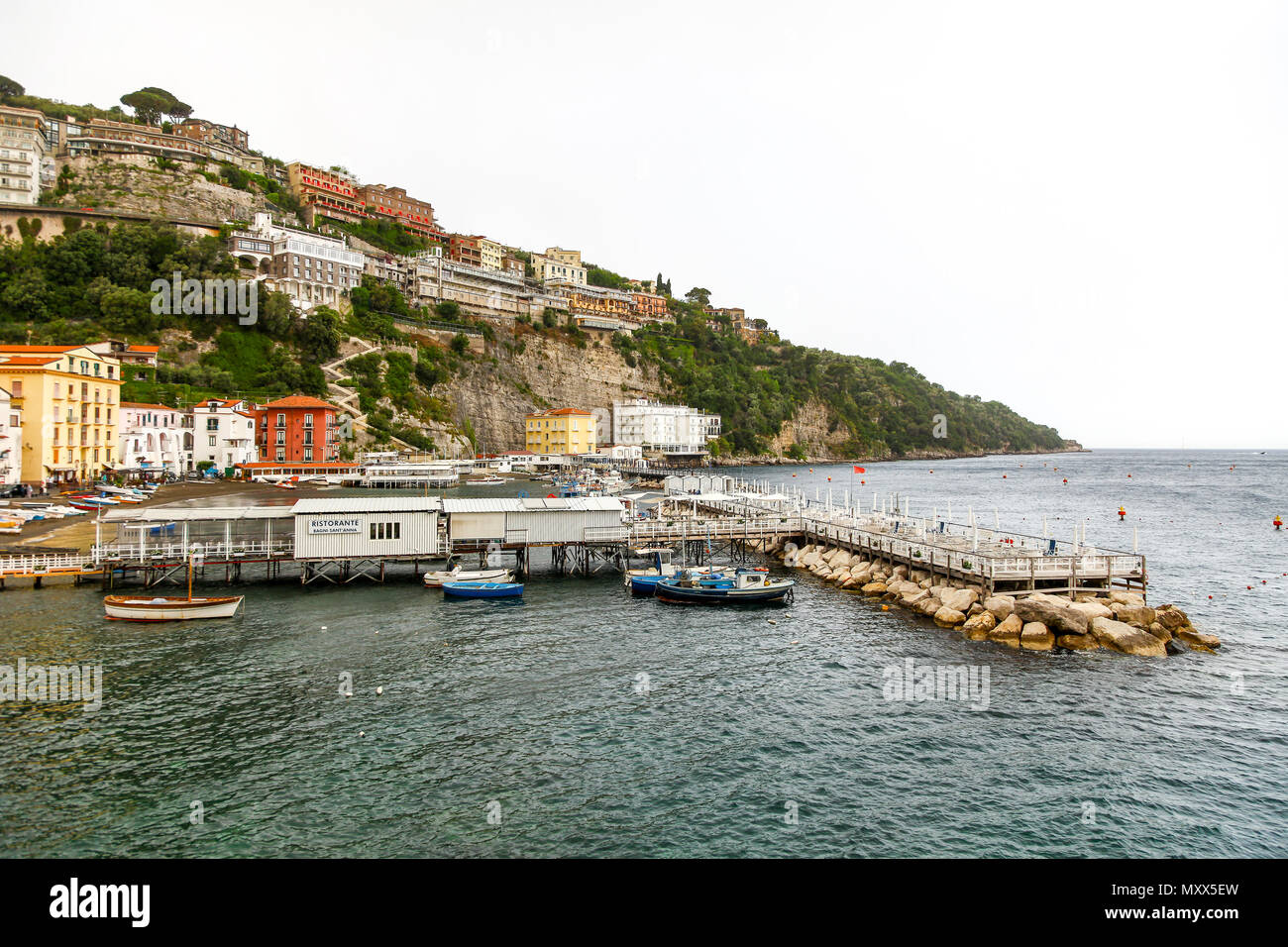The Port of Marina Grande, Sorrento, Bay of Naples, Italy - Stock Image