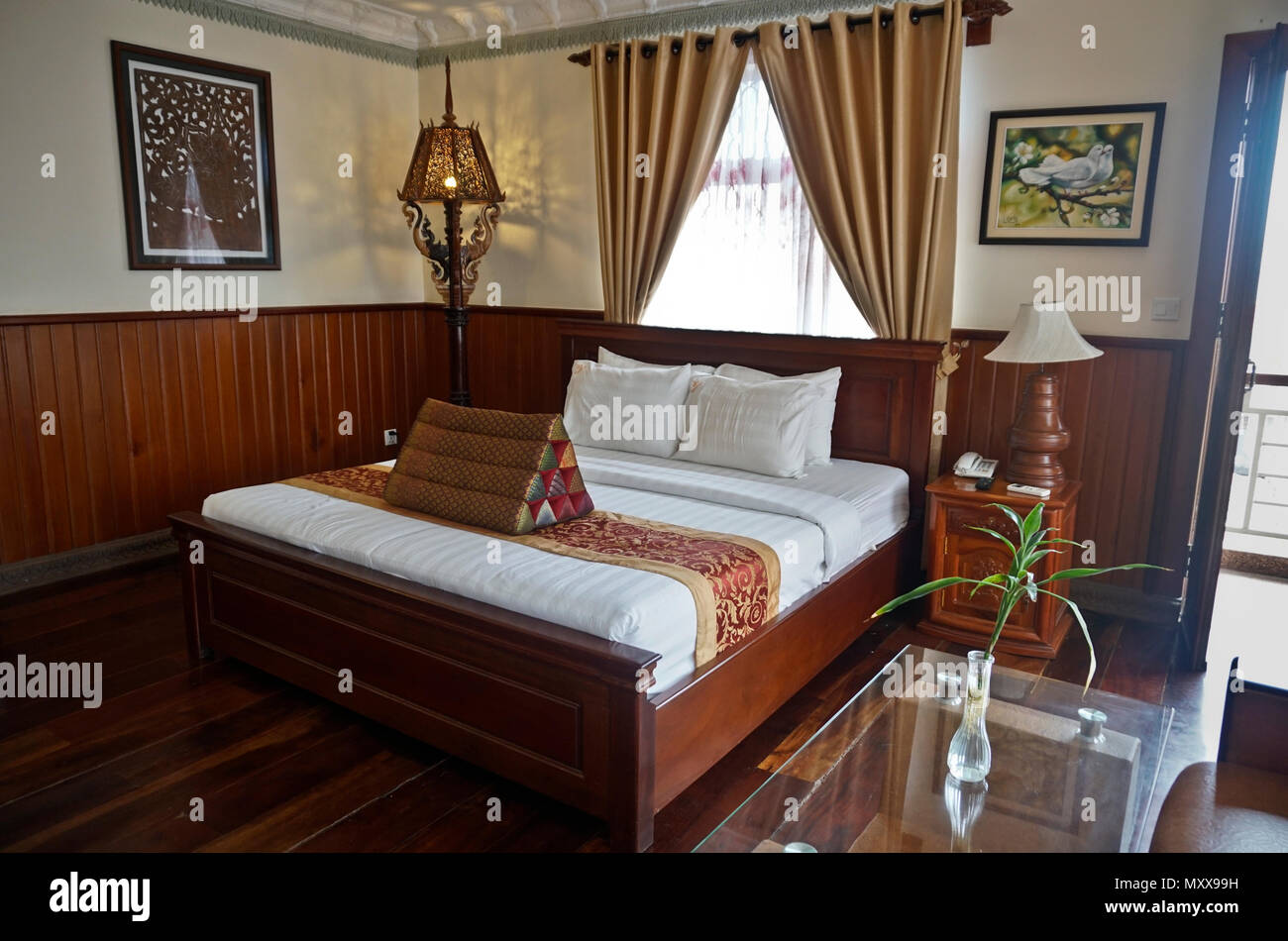 Hotel or bedroom with asian decor Stock Photo: 188662813 - Alamy