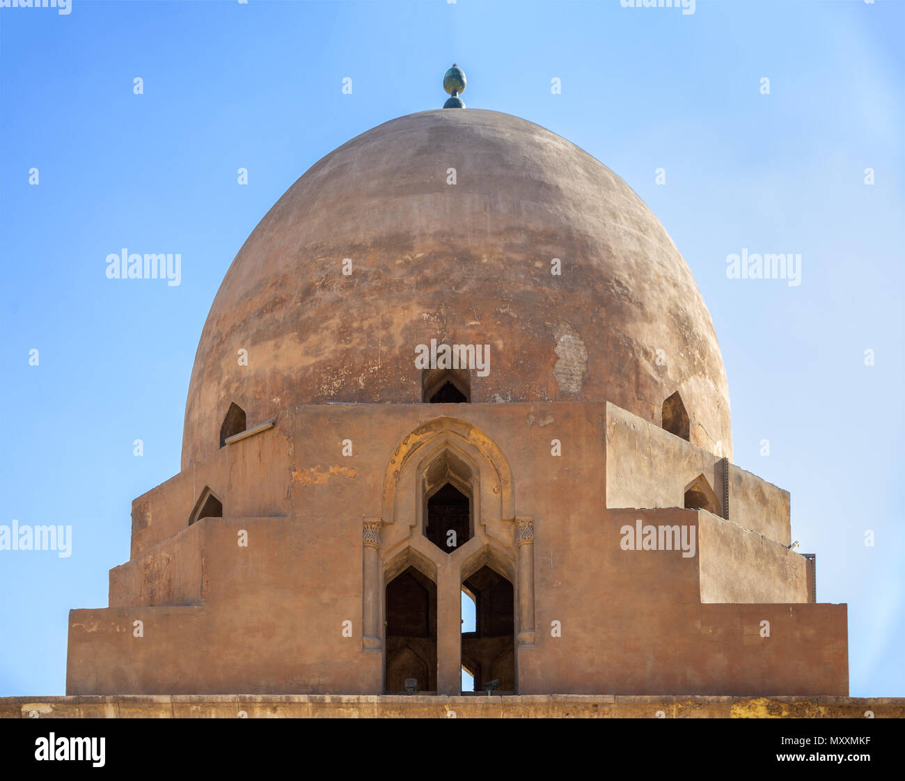 Dome of the ablution fountain of Ibn Tulun Mosque, located in Cairo, Egypt - Stock Image