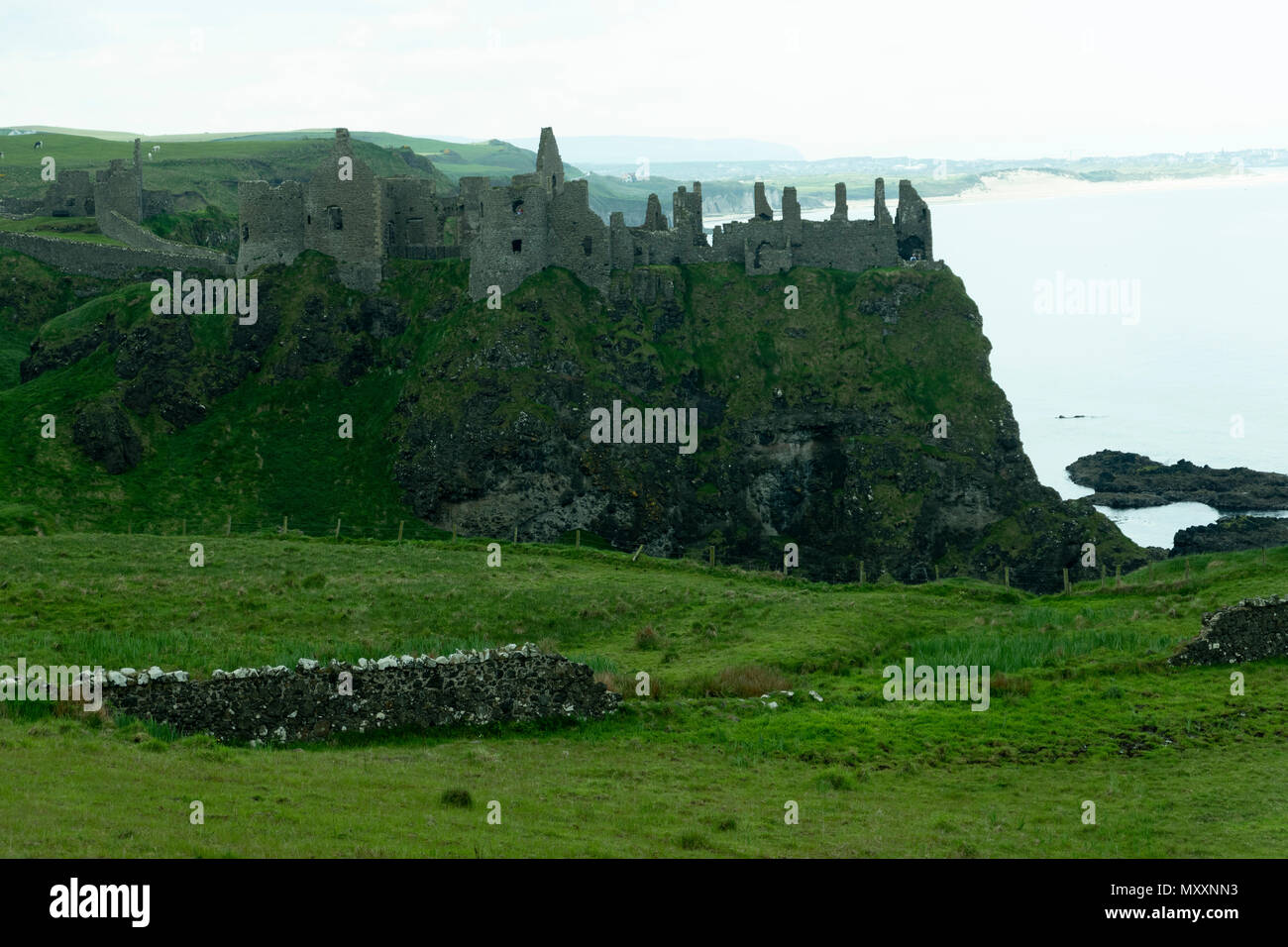 Danluce Castle view, Northern Ireland - Stock Image