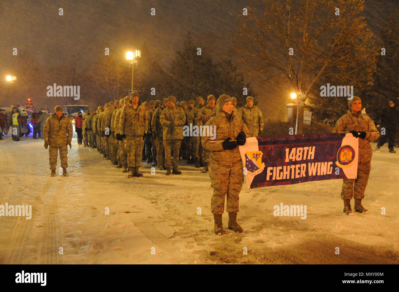 us air force airmen 148th fighter wing duluth minn prepare to march in the christmas city of the north parade nov 18 2016 the parade is held in - Christmas City Of The North Parade
