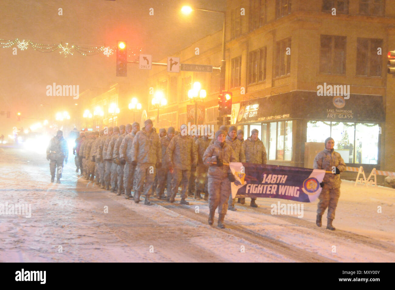 us air force airmen 148th fighter wing duluth minn participate in the christmas city of the north parade nov 18 2016 the parade is held in duluth - Christmas City Of The North Parade