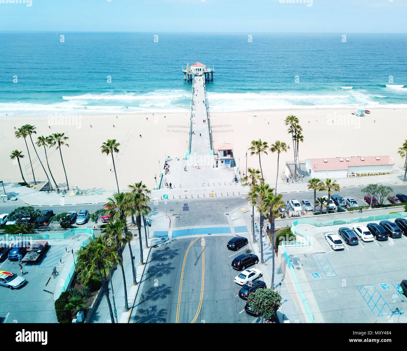 manhattan Beach Pier - Stock Image