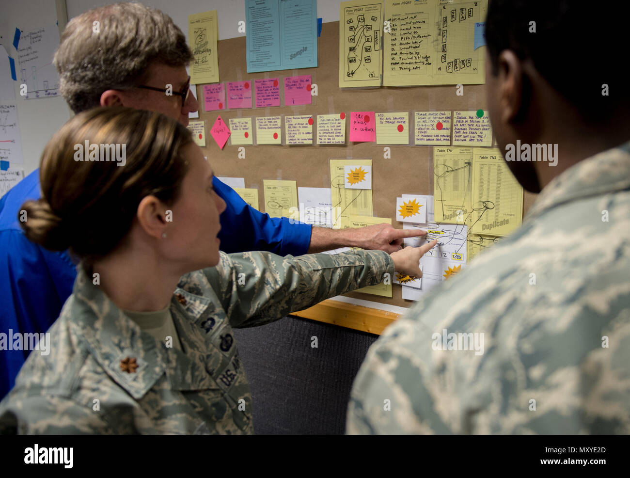 Airmen Use A Problem Solving Flow Chart During Green Belt Training Process Diagram Course At Ramstein Air Base Germany Dec 15 2016 Is Continuous
