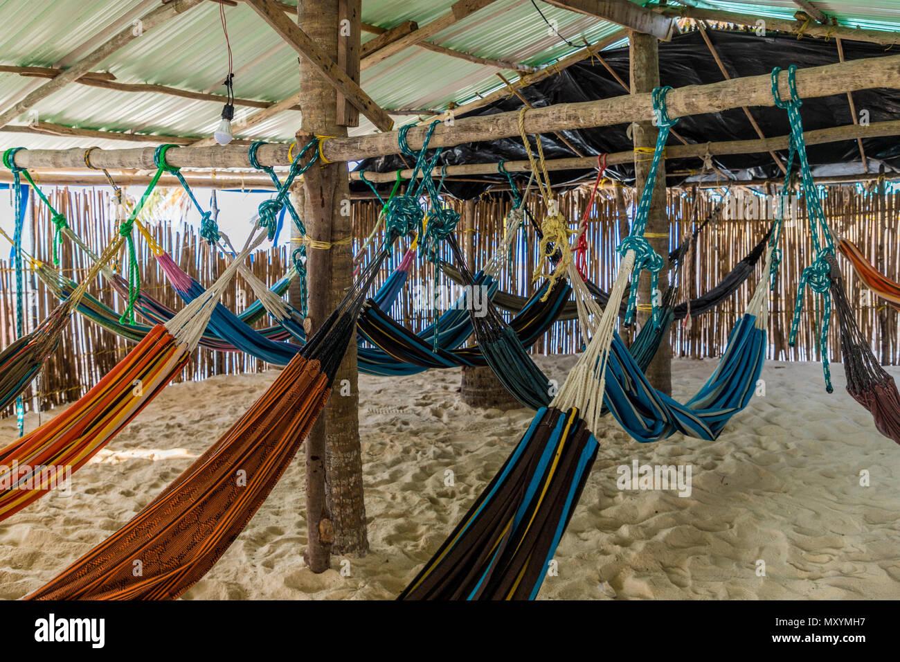 basic dormitory in paradise - Stock Image