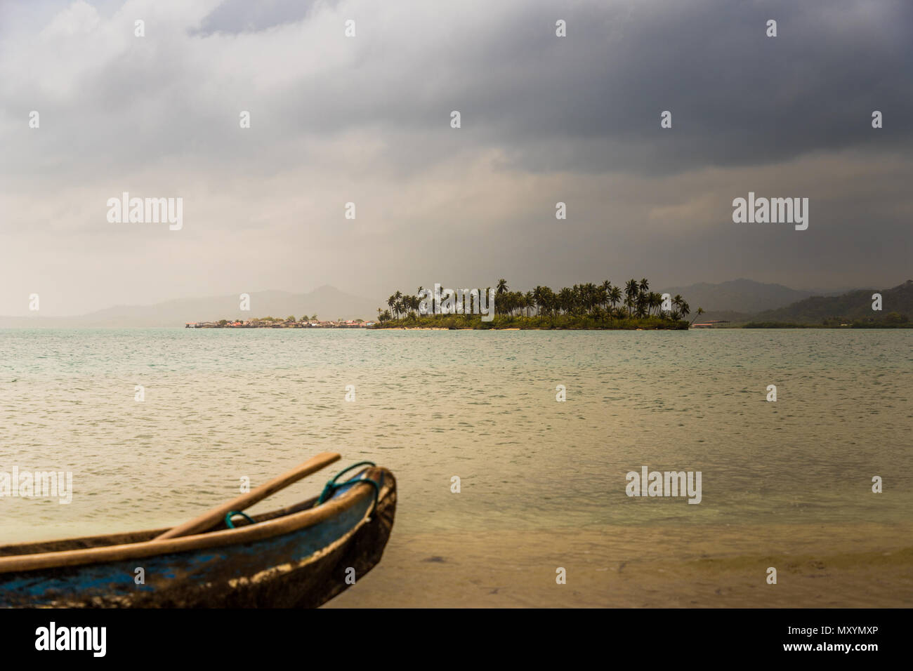 san Blas islands in Panama - Stock Image