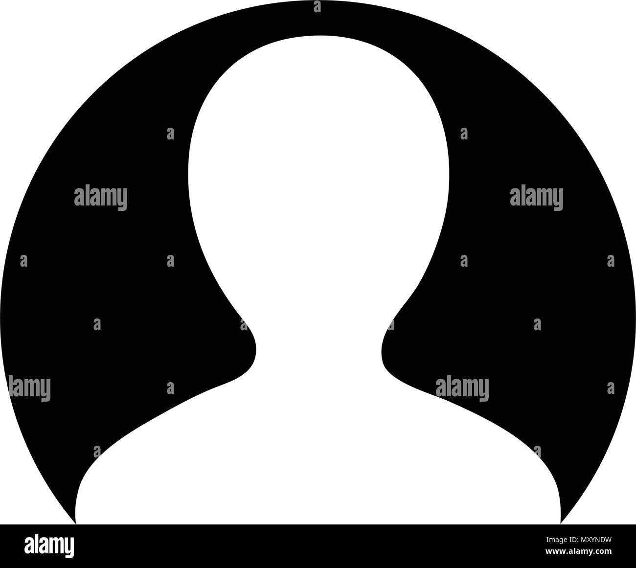 Man Icon Vector User Person Profile Avatar Symbol In Circle Flat