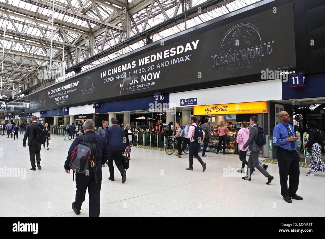 Waterloo Station London England - Stock Image