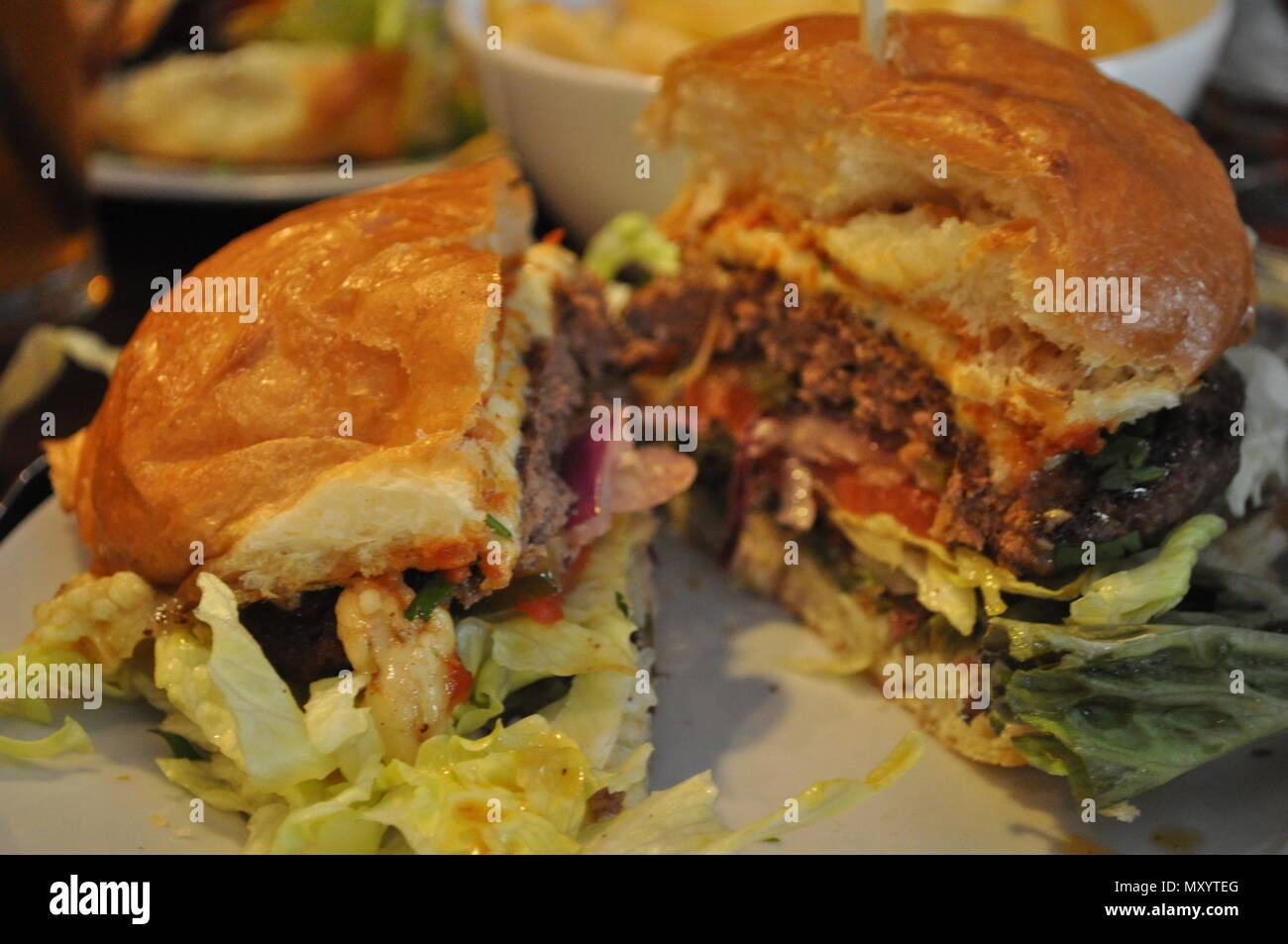 Glorious burger - Stock Image