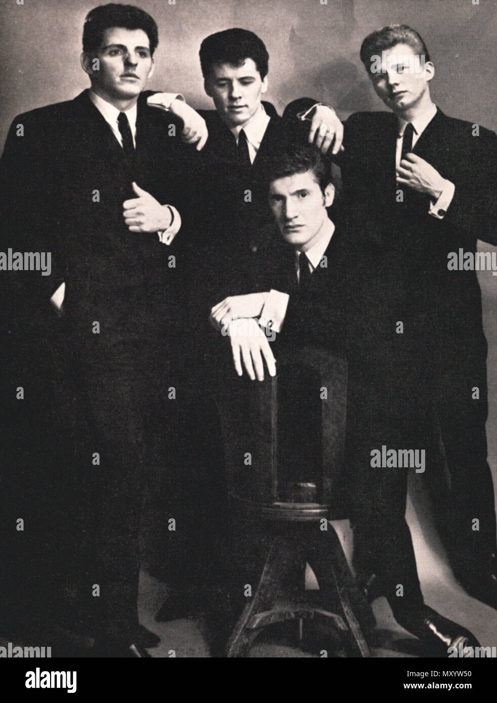 Early publicity image of pop group The Searchers, from 1963 - Stock Image