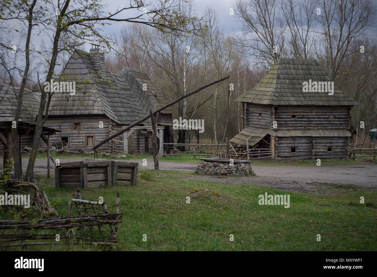 Abandoned Medieval Village, Prague, Czech Republic. - Stock Image