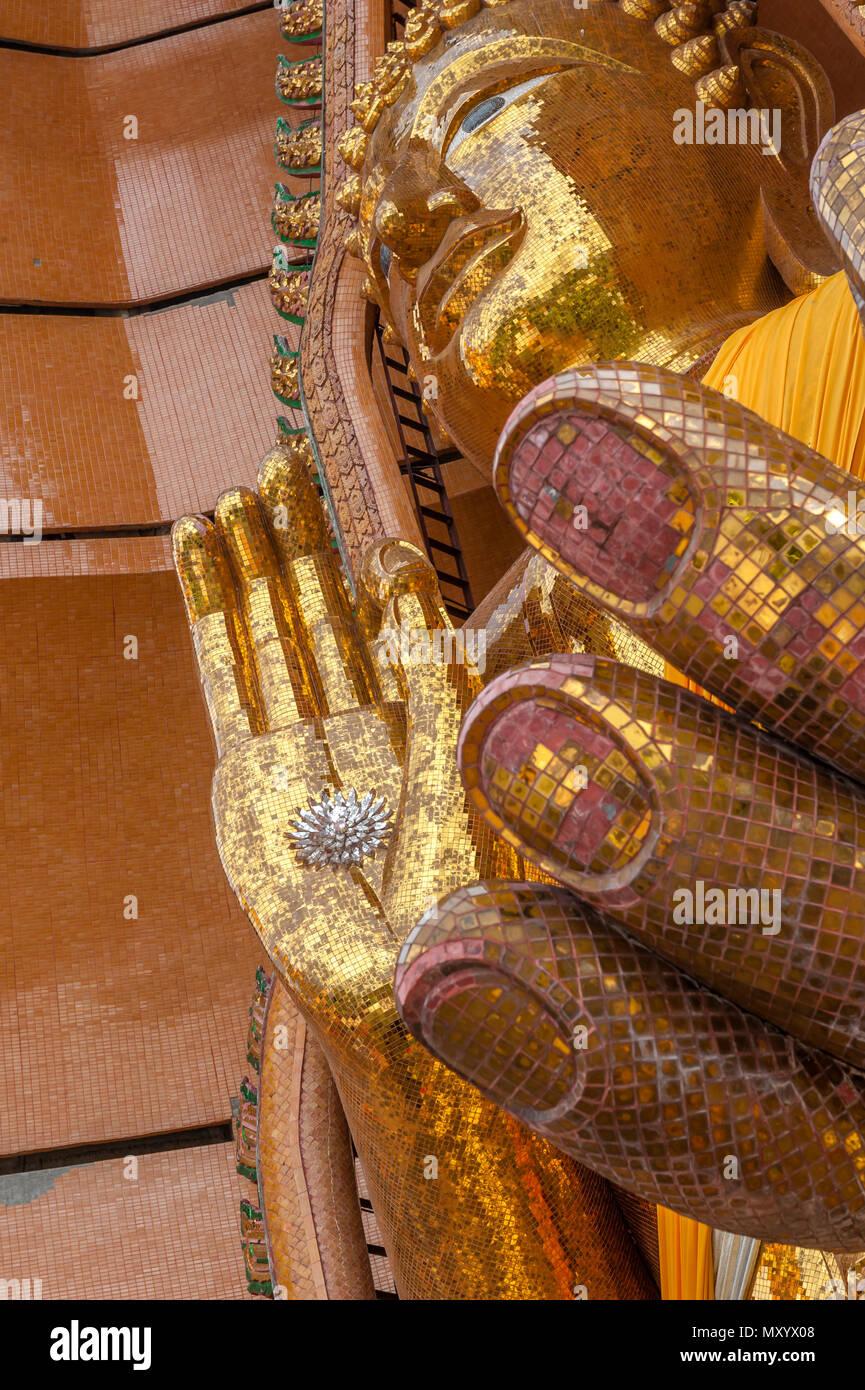 Wat Tham Seu or Big Buddha Temple. Ban Muang Chum Mu 3 Tambon Muang Chum, Amphoe Tha Muang, Kanchanaburi. Thailand - Stock Image