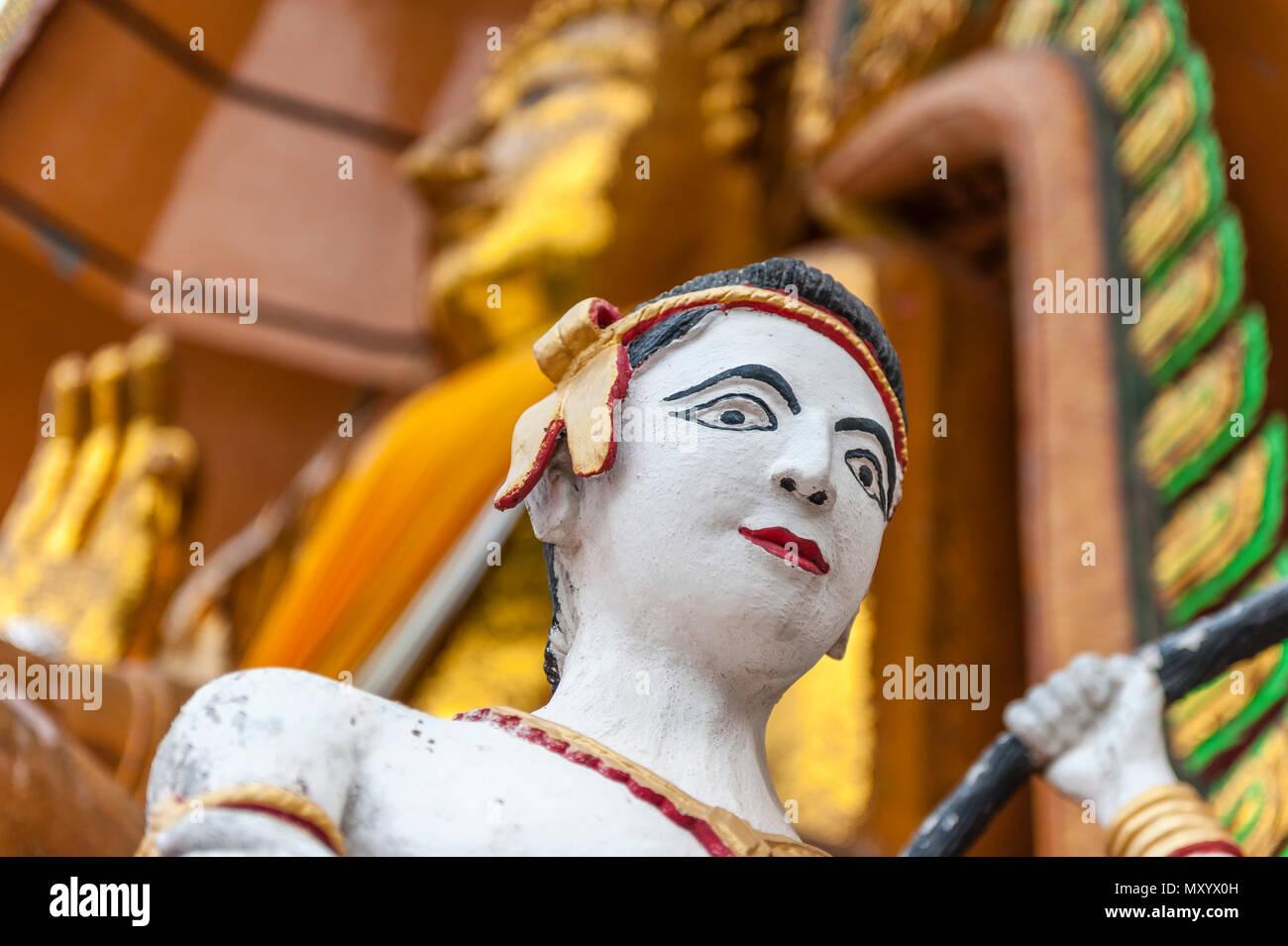 Wat Tham Seu or Big Buddha Temple. Kanchanaburi. Thailand - Stock Image