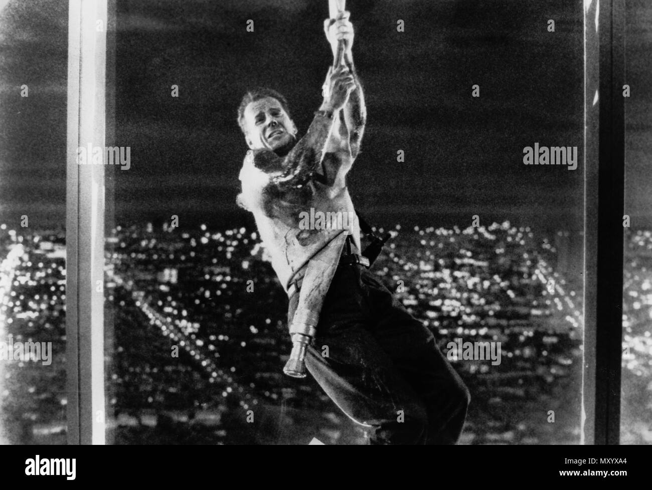 bruce willis, die hard, 1988 - Stock Image