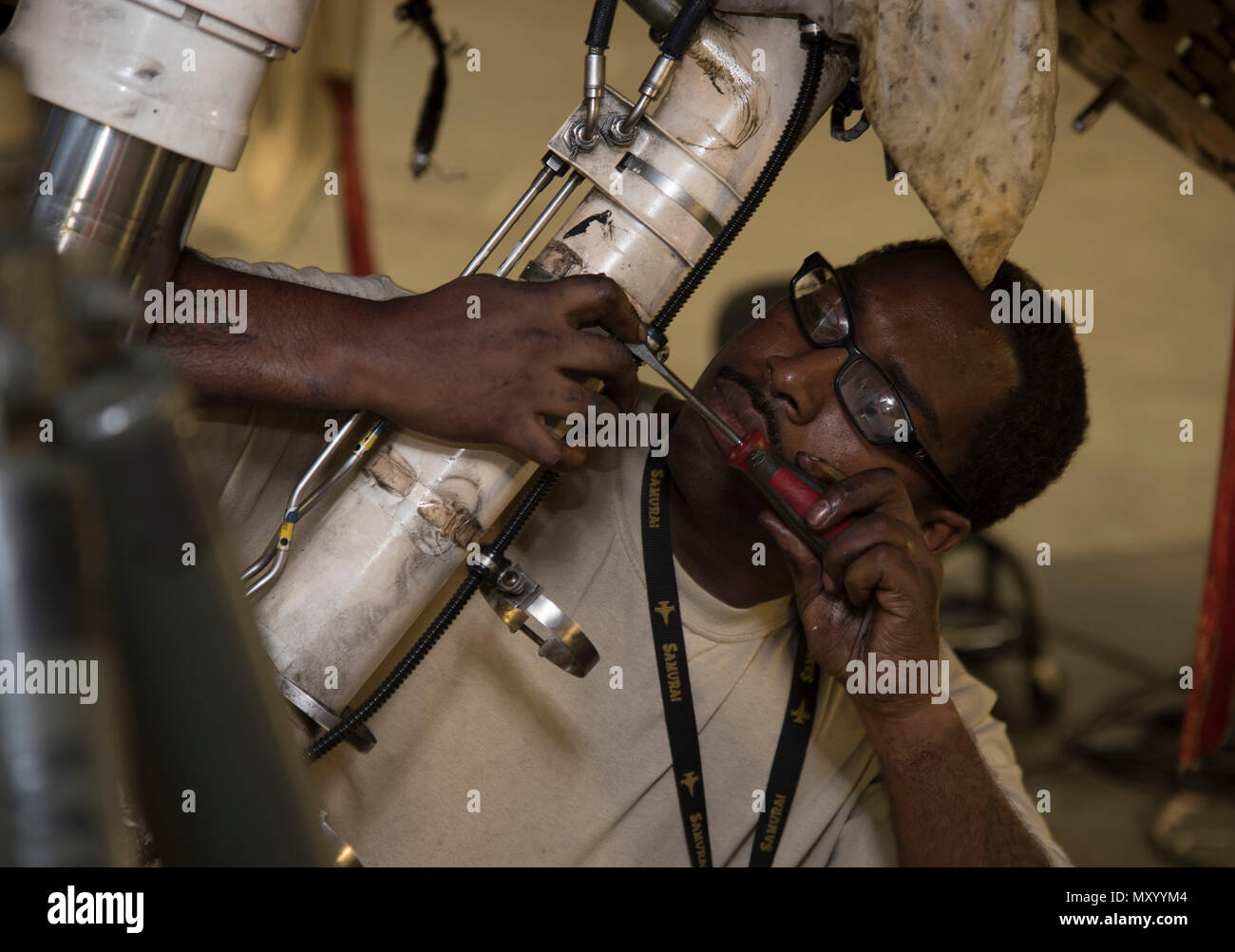 U.S. Air Force Staff Sgt. Byron Cole, a 14th Aircraft ... F Wire Harness on