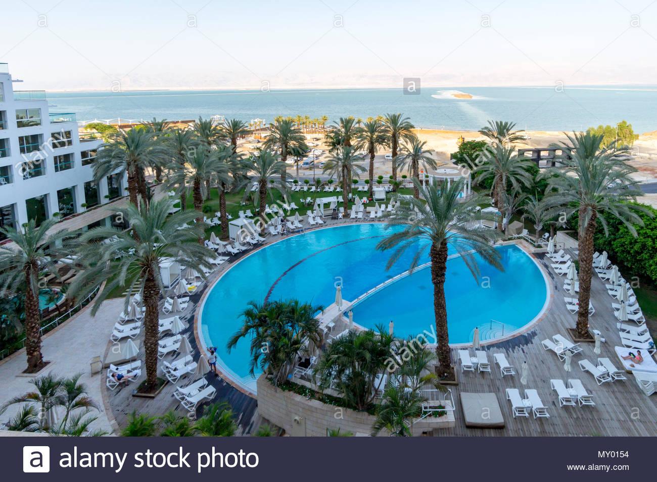 Isrotel Dead Sea Hotel on the shore of the Dead Sea near Ein Bokek, Israel. Stock Photo