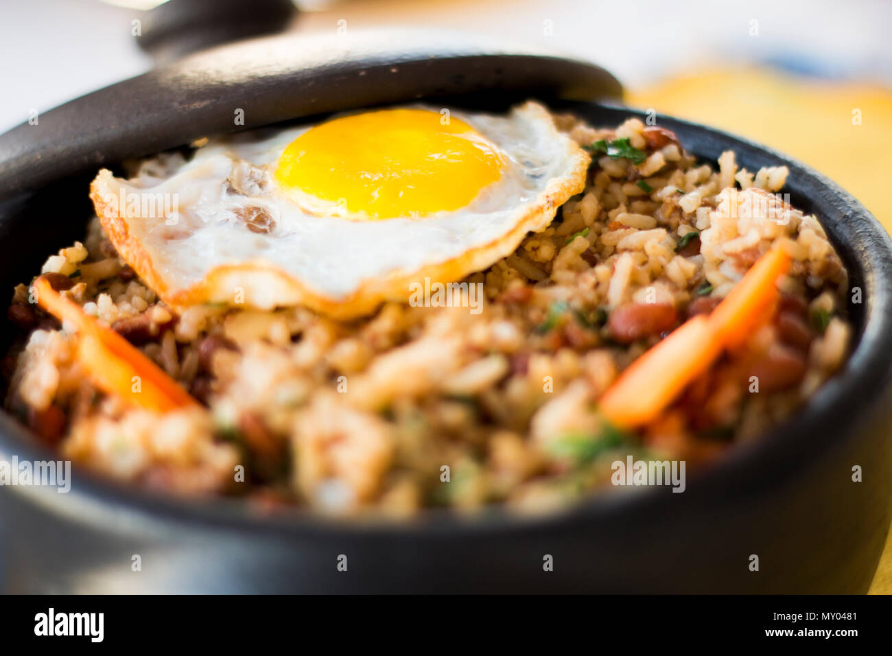 Rice with eggs - Stock Image