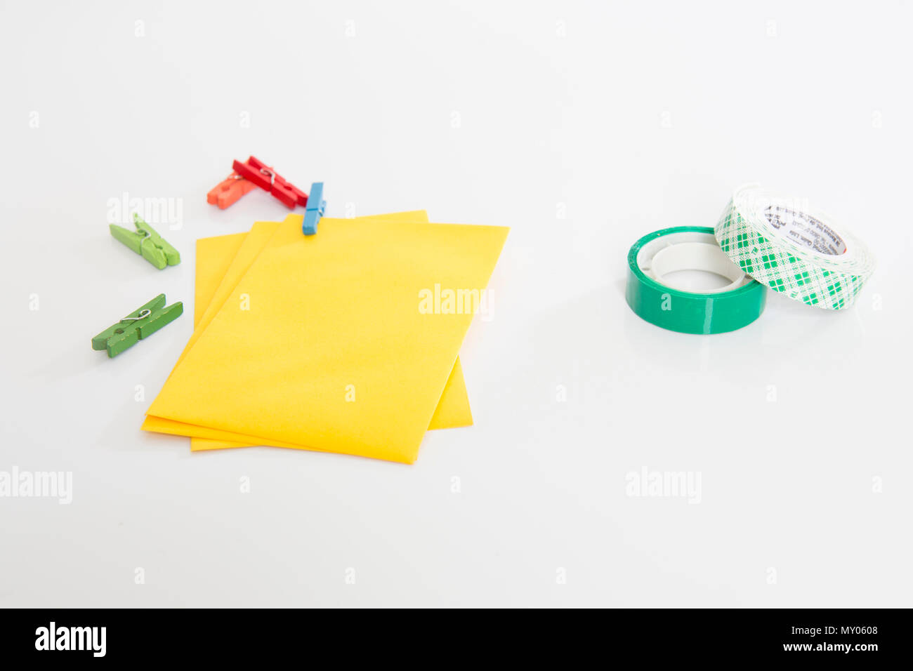 Inspired Craft Tools In A White Background Stock Photo 188704104