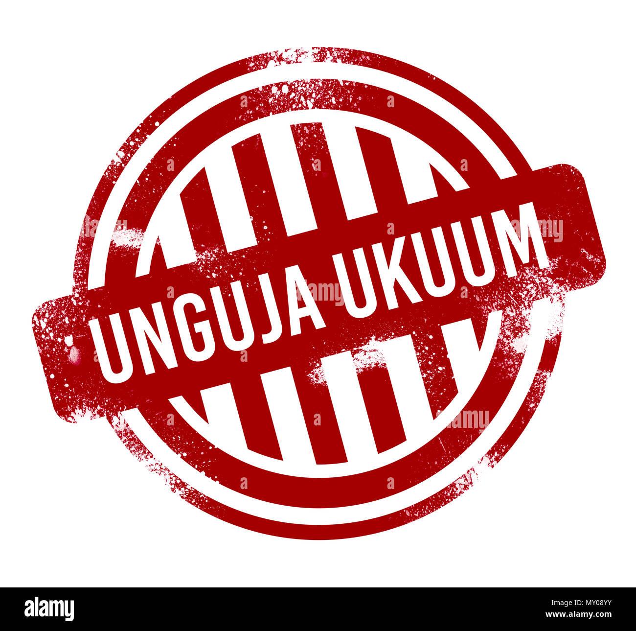 Unguja Ukuum - Red grunge button, stamp - Stock Image
