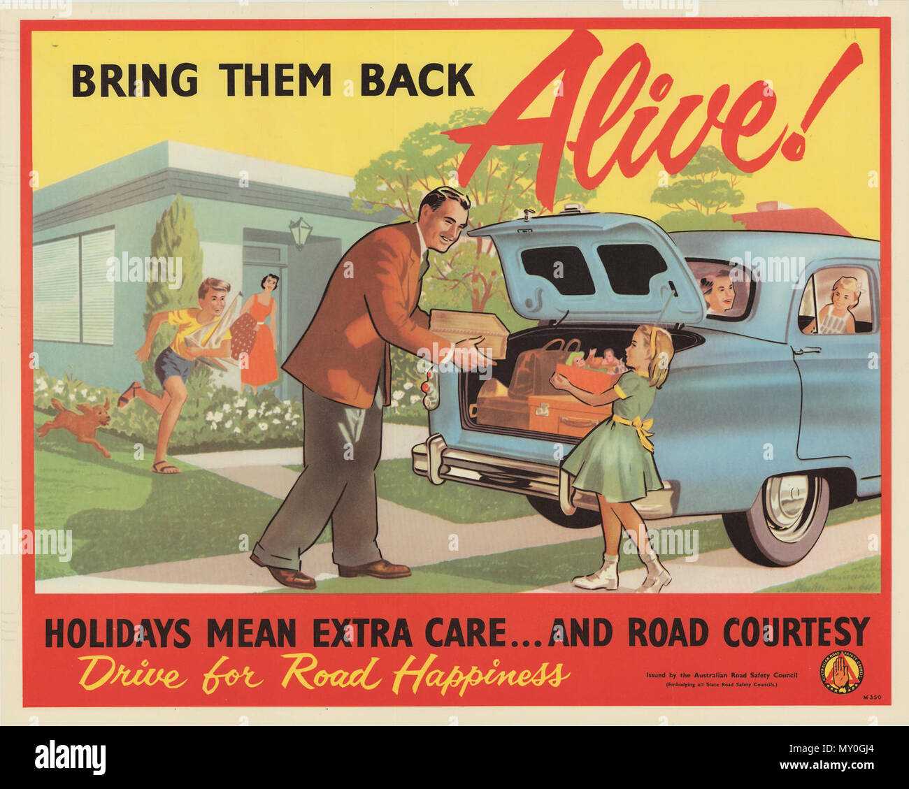 Bring Them Back Alive Road Safety Poster Circa 1939 1957 Warning On Road Safety Melbourne Sunday In A Grim Warning Tonight The President Of The Australian Road Safety Council Mr T G